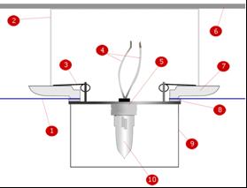 Схема наружного расположения лампы