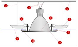 Схема расположения лампочек внутри