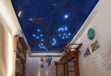 потолок звездное небо натяжной
