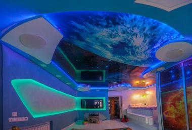 фотопечать космос детская потолок