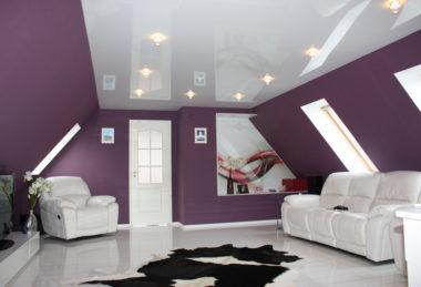 глянец с подсветкой белый гостиная