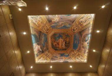 фотопечать фреска потолок с подсветкой