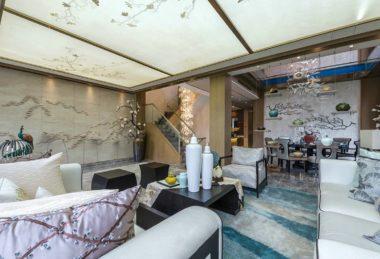 полупрозрачное полотно сакура потолок