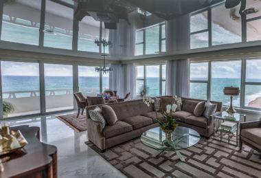 серный гостиная потолок глянец