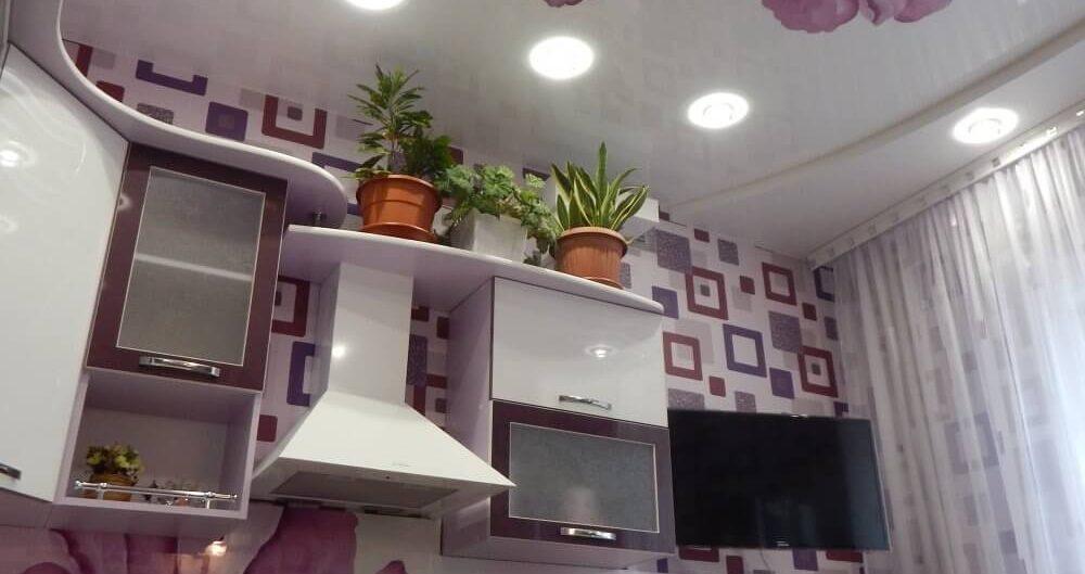 фотопечать с подсветкой цветов кухня