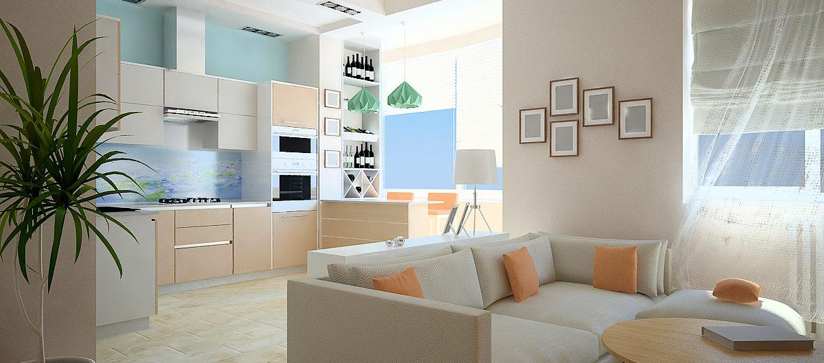 потолок белый на кухне натяжной