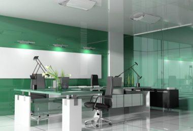 глянец белый офис натяжной