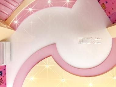 с подсветкой белый розовый бежевый