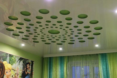 белый глянец apply зеленый потолок