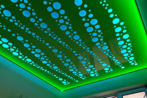 зеленый голубой с подсветкой apply глянец