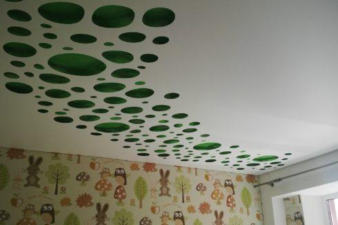 зеленый белый apply потолок
