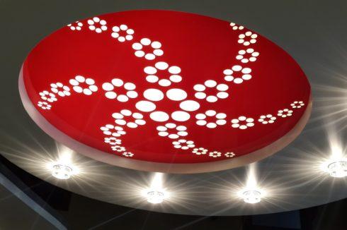 красный apply многоуровневый с подсветкой