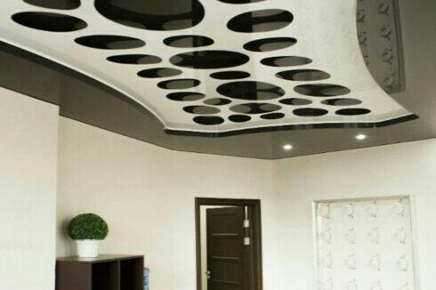 черный apply глянец белый потолок