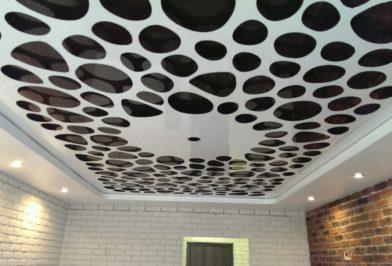 черный глянец белый apply потолок