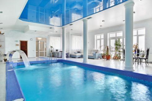 синий глянец бассейн одноуровневый