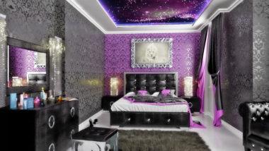 серо-фиолетовая комната
