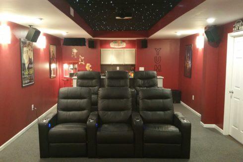 звездный потолок над креслами