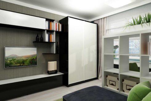 комната белый потолок шкаф