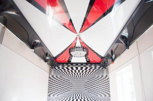необычный потолок натяжной
