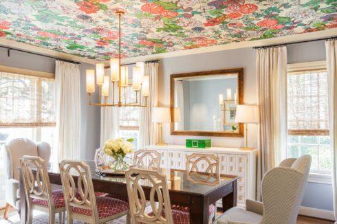 потолок с цветочками