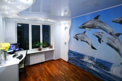 стена в морском стиле