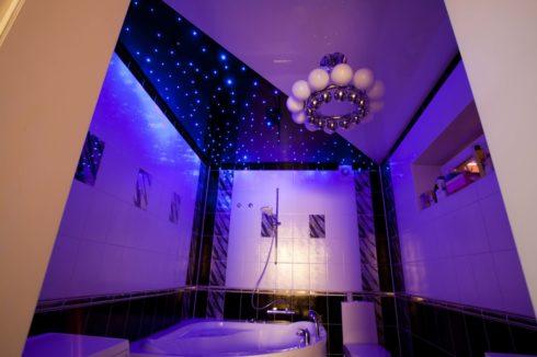 ванная с фиолетовым оттенком