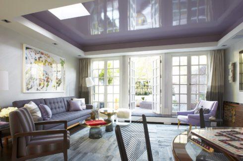 пурпурный глянец натяжной потолок