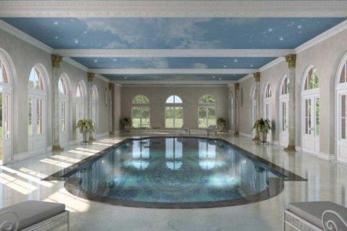 бассейн с звездным небом