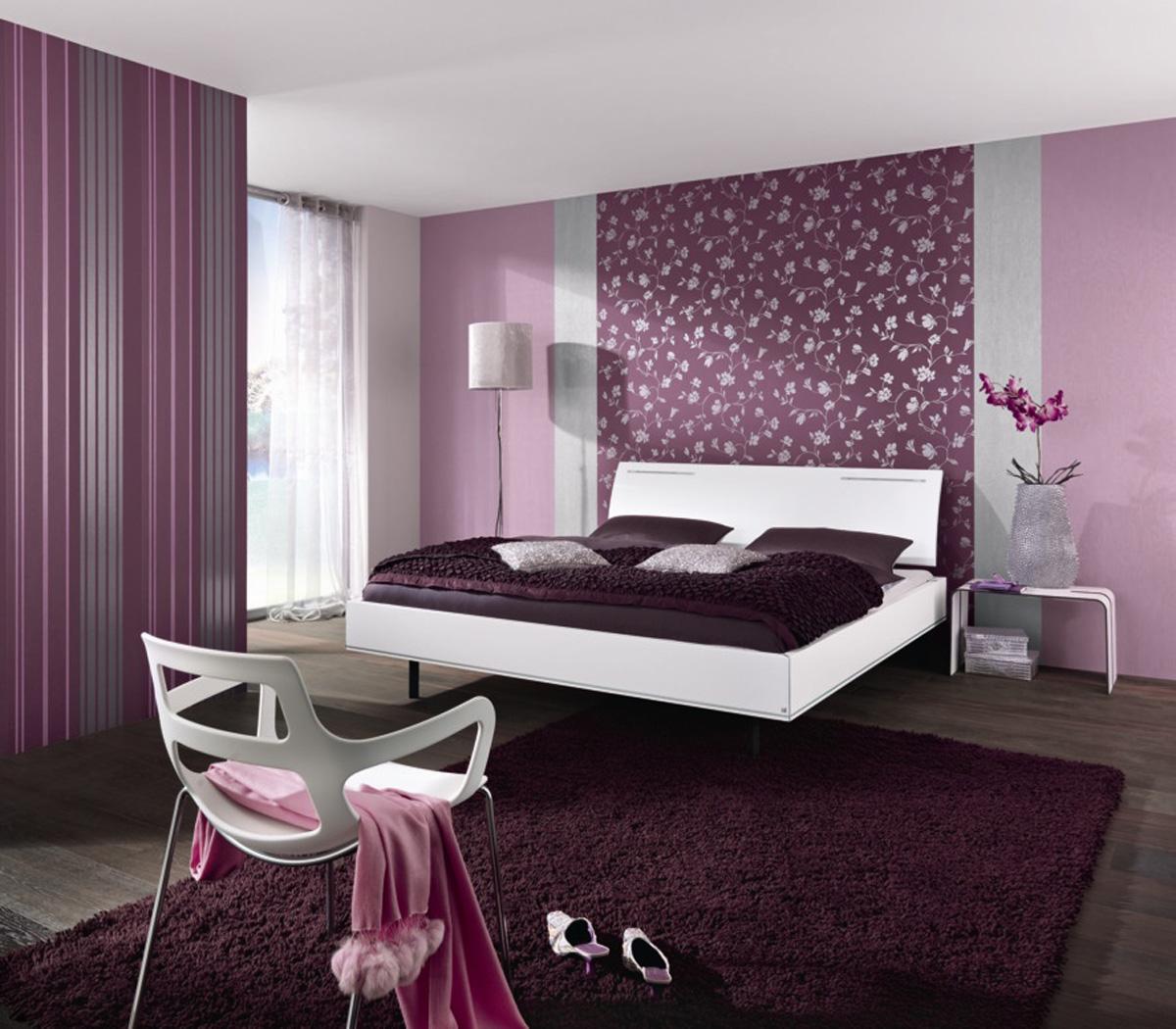 Дизайн спальни фото 2016 современные идеи обои двух цветов 79