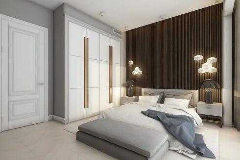 Белый шкаф в комнате