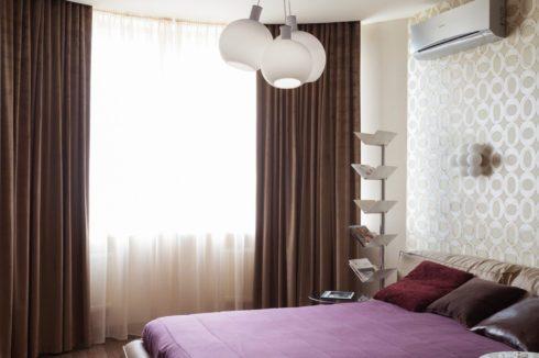 белый глянец круглый спальня