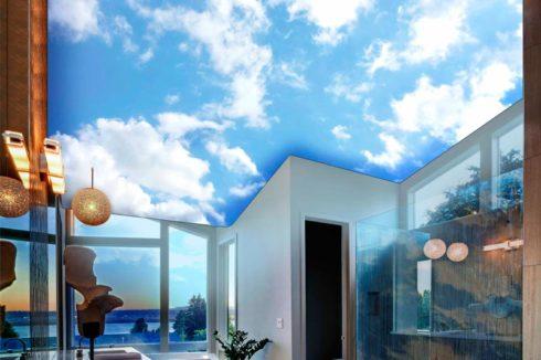 Небесное небо потолок в комнате