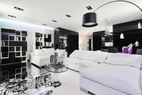 Черно-белая комнатка