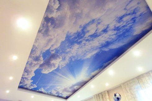 прямоугольный потолок небесное небо