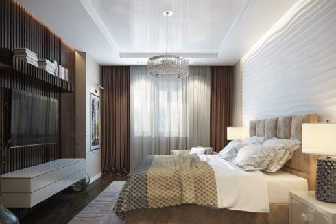 комната с волнистой стеной
