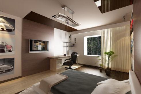 белый потолок в комнате натяжной