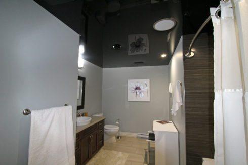 черный глянец ванная-комната