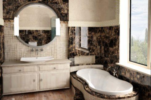 черный глянец ванная