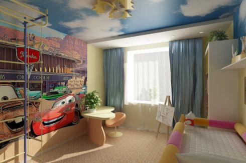 стена с мультфильмом