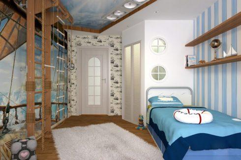 комната в корабельном стиле