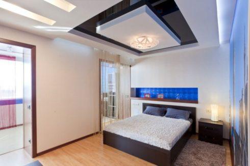 черный глянец спальня