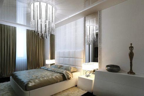 белый прямоугольный потолок