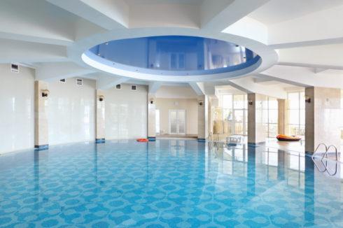 синий круглый глянец бассейн