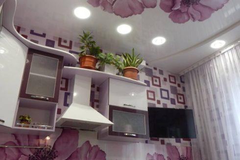 кухня с цветочками