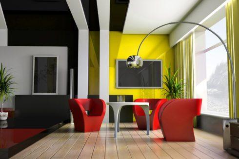 черный и белый потолок в квартире