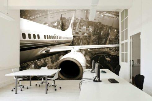 стенка с артом самолета