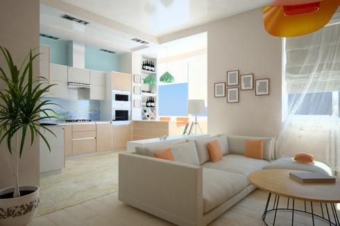Белый потолок в гостинке
