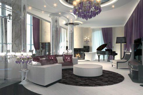 белый потолок в квартире