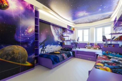комната в космическом стиле