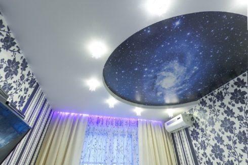 потолок с печатью галактики